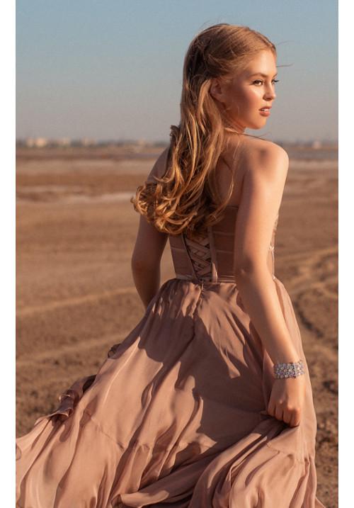 Midi-length cocktail dress